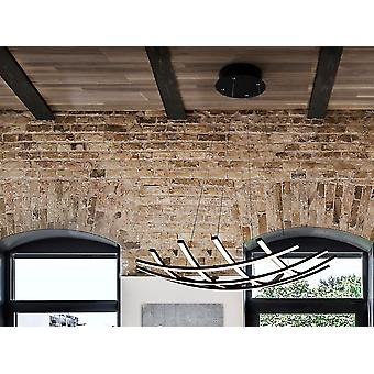 Schuller Trama II LED Designer Anheng Lys Criss Cross Grid Stil Matt Svart Dimmbar Med Fjernkontroll, 78cm