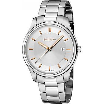 Wenger Stříbrná nerezová ocel 01.1441.105 Pánské hodinky