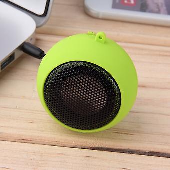 Protable Mini 3.5mm Jack Hamburg Type Telescopic Plug-in Audio Speakers