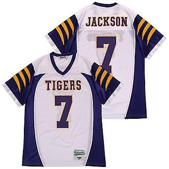 Hombre Lamar Jackson #7 White Football Jersey Ropa deportiva al aire libre, Stitched Movie Football Jerseys Deportes de manga corta Camiseta Tamaño S-xxxl