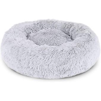 Kulatý psí koš Kočičí polštář koblihový koš 40cm Rozměry světle šedé