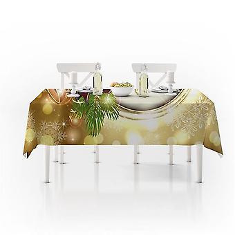 Merry Christmas Nappe Cover Imperméable à l'eau Christmas Bell Red Kitchen Nappe Party Decoration