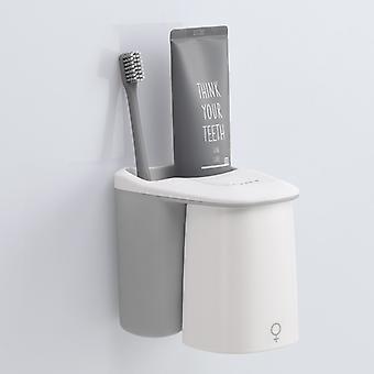 Reverse Magnetic Absorption Zahnbürstenhalter, Zahnpasta Aufbewahrung Wandregal, Badezimmer Zubehör Sets