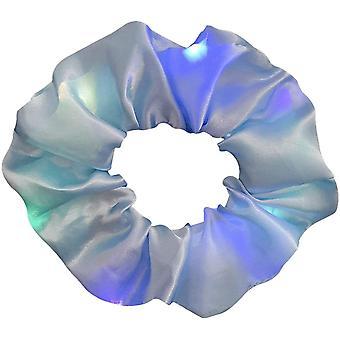 8 stuks led licht haar scrunchies gloeiende hoofdband haarbanden clips hoofddeksels
