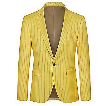 Yunyun Costume pour hommes Single Row Blazer rayé à un bouton