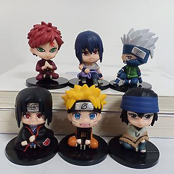 6 Q Versie Zitten Naruto Figuur Toy Naruto Sasuke Kakashi Naruto Doll