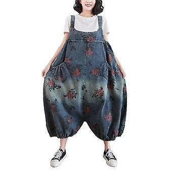 Woman Plus Size Overalls Demin Pants