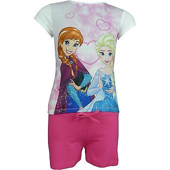 Κορίτσια Disney κατεψυγμένα Έλσα & Άννα 2 κομμάτι σετ κοντό μανίκι T-shirt & σορτς