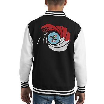 The Man With The Golden Zapper Duck Hunt Kid's Varsity Jacket