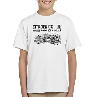 Haynes Workshop Manual 0528 Citroen CX Black Kid's T-Shirt