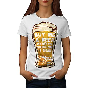 Beer Wedding Party Women WhiteT-shirt | Wellcoda
