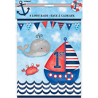 Unique Party Nautical 1st Birthday Lootbags (Pack of 8)