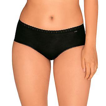 Sans Complexe 609073-Noir Women's Classique Coton Black Knickers Panty 2 Pack Brief