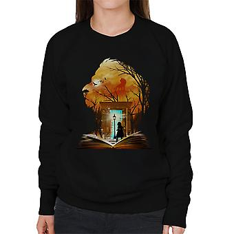 Kronieken van Narnia Aslan kledingkast Collage vrouwen Sweatshirt