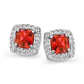 Orphelia Silver 925 Earring prinses zirkonium Red ZO-7199/RE