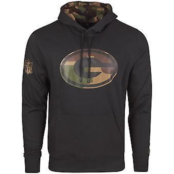 New Era Fleece Hoody - NFL Green Bay Packers schwarz / camo