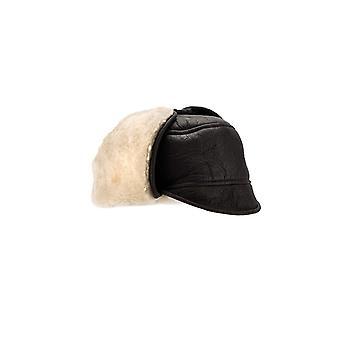 Eastern Counties Leather Mens Harrison Aviator Sheepskin Hat