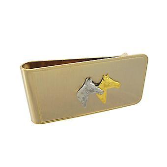 Guld pläterad fullblod häst Sedelklämma