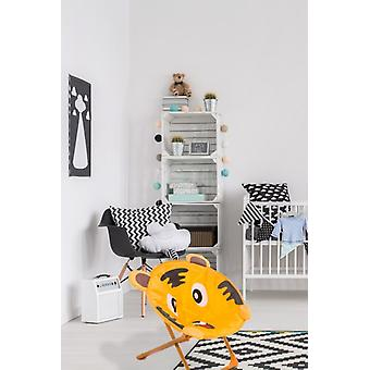 Kinderstuhl Tiger Motiv Für Indoor Outdoor Kinderstühle Orange Braun Weich Neu