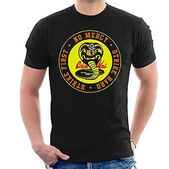 Cobra Kai Schlange Logo keine Barmherzigkeit Männer T-Shirt