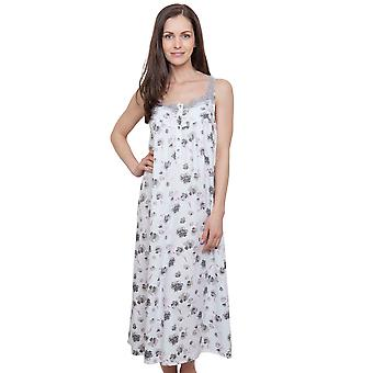 Cyberjammies 1286 Women's Nora Rose Ava Cream Off White Floral Night Gown Loungewear Nightdress