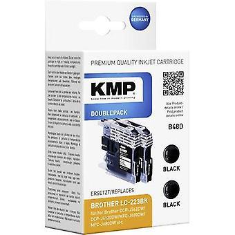 KMP Tinte ersetzt Brother LC-223BK Compatible Pack von 2 schwarzen B48D 1529,0021