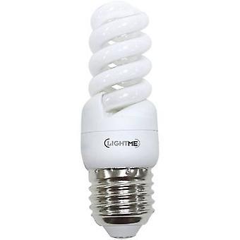 LightMe Energy-saving bulb EEC: A (A++ - E) E27 93 mm 230 V 8 W Warm white Spiral shape 1 pc(s)