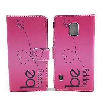 Matkapuhelin tapauksessa pussi mobiili Samsung Galaxy S5 aktiivinen olla onnellinen vaaleanpunainen