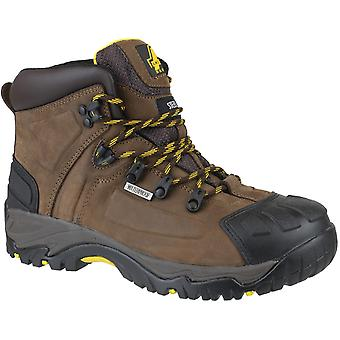 Amblers Safety Mens FS39 Leather Waterproof Safety Boots Brown