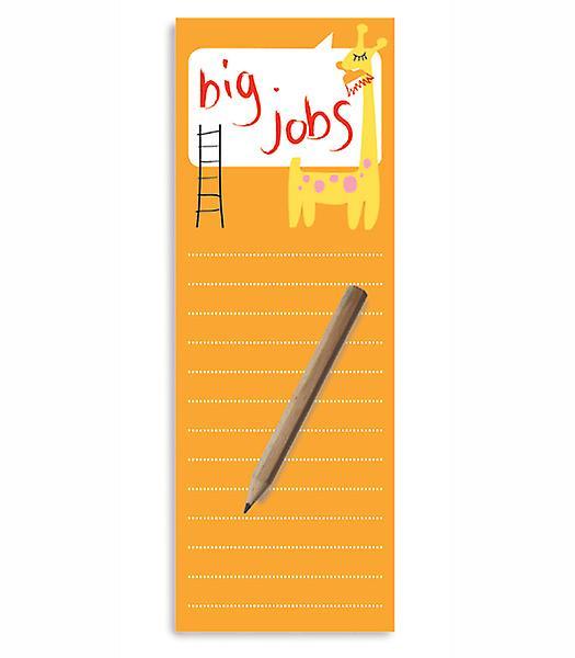 Big Jobs magnétique des listes de tâches Bloc-notes