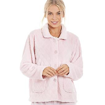 Camille женские супермягкая светло розовый кнопку фронт Diamond печати кровати пиджак