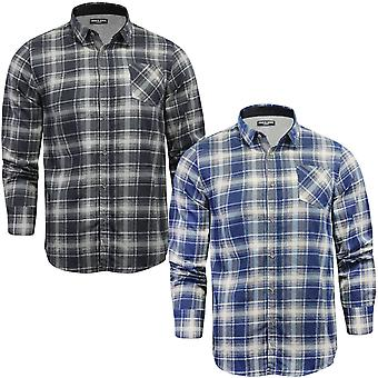 Brave Soul Mens Faraday Flannel Brushed Cotton Check Checked Shirt Top