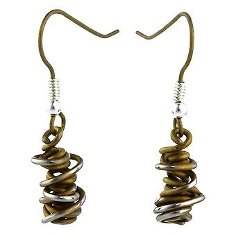 Ti2 Titanium Chaos Small Drop Earrings - Tan Beige
