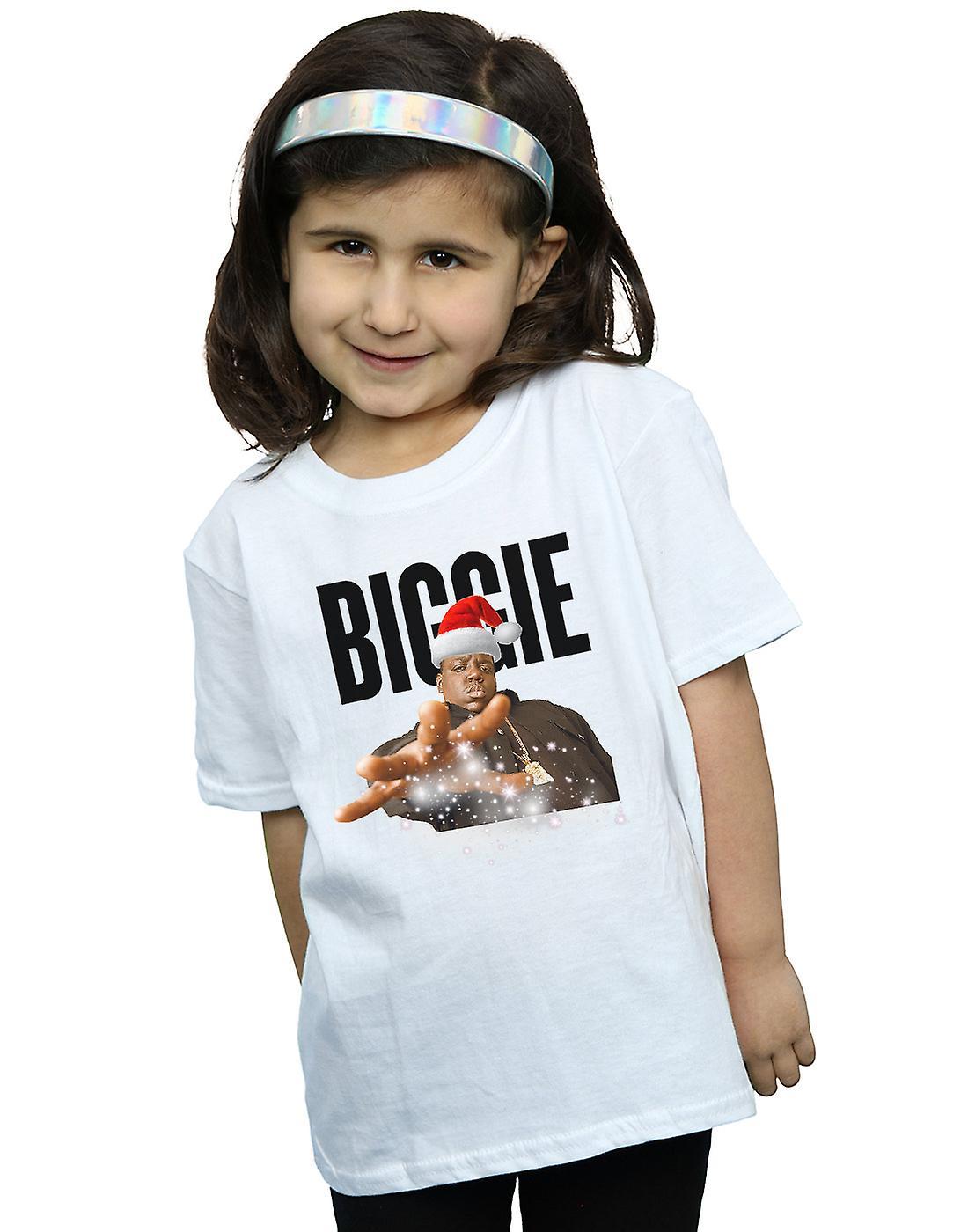 Notorious BIG Girls Biggie Christmas Hat T-Shirt