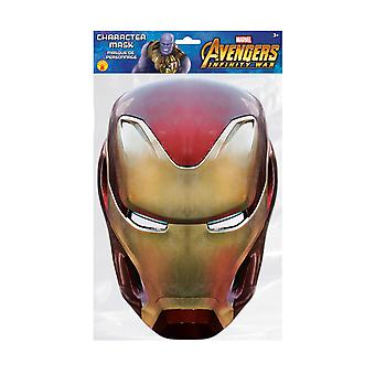Iron Man Infinity War Official Marvel Single 2D Card Party Face Mask