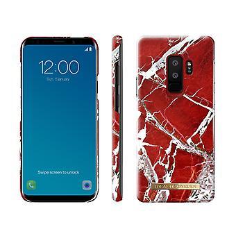 iDeal af Sverige Samsung Galaxy S9 plus-SCARLET rød marmor