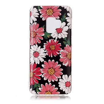 MTK Samsung Galaxy S9 SM-G960 TPU marmo-margherita fiore