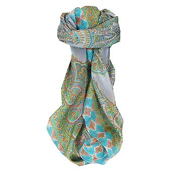 Mulberry Silk Traditional Square Scarf Andrha Pearl by Pashmina & Silk