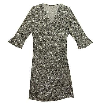 Olsen Dress 13001449 Grey With Navy And White
