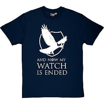 Y ahora mi reloj camiseta terminado hombres