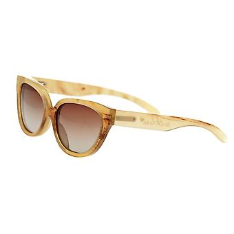 Bertha Taylor Buffalo-Horn Polarized Sunglasses - Honey/Brown