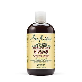 Humedad de karité aceite de ricino negro jamaicano fortalecer y restaurar 384ml champú