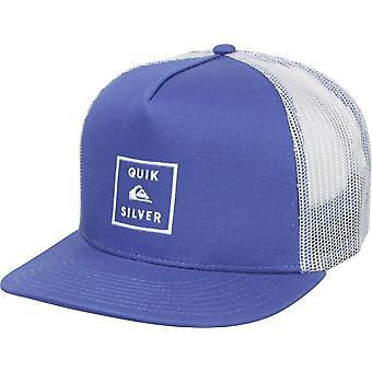QUIKSILVER Mens ClipSta 5 pannello Snapback Trucker Hat - medievale blu