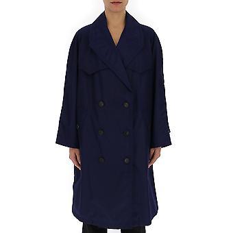 Prada Blue Nylon Trench Coat