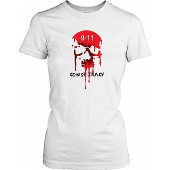 9-11 konspirasjon - blødning Skull damer T skjorte