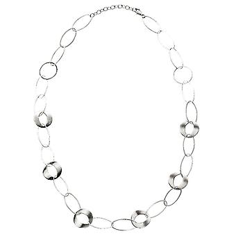 Beginnings Multi Link Long Necklace - Silver