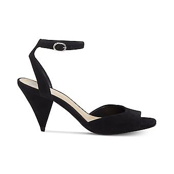 Vince Camuto Womens Benatta Leather Peep Toe Formal Slingback Sandals