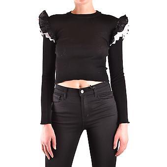 Filosofia Por Lorenzo Serafini Ezbc087039 Women's Black Cotton Sweater