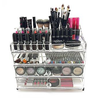 OnDisplay 4 Tier Chromed Steel Frame Acrylic Cosmetic/Makeup Organizer