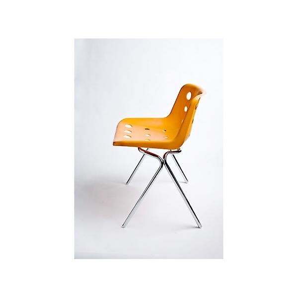 Loft Robin Day 4 Leg Bright Orange Plastic Polo Chair